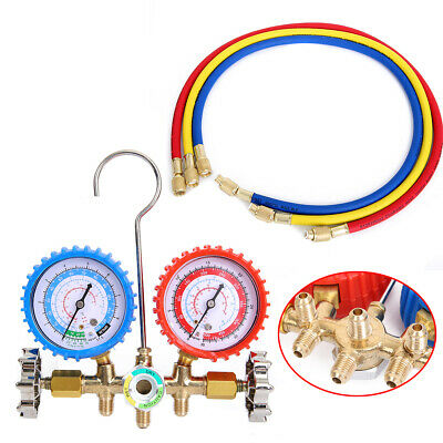 2 Way Manifold Refrigeration Air Conditioning Gauge R134A R12 R404z Tool Set