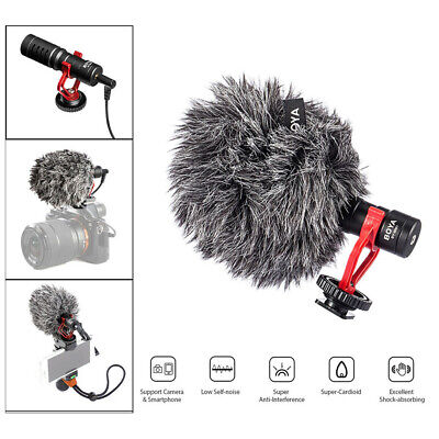 Boya BY-MM1 Cardiod BY Shotgun Video Microphone Compact On-Camera Condenser Mic