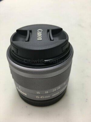 Brand New Canon Zoom EF-M 15-45mm F3.5-6.3 IS STM Silver Lens UK*au
