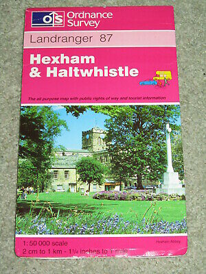 OS Ordnance Survey Landranger Map Sheet 87 Hexham & Haltwhistle