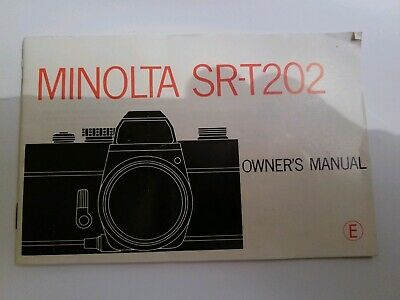 Minolta SRT 202 Manual Genuine Original 1975