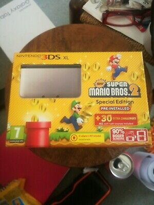 Nintendo 3DS XL Console Silver Special Edition, New Super Mario Bros 2.(boxed)
