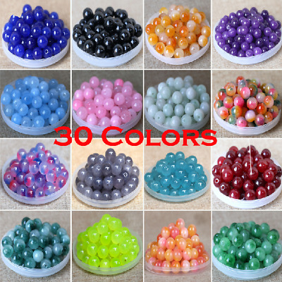 13mm Natural Stone Spacer Loose Beads Craft for DIY Jewelry Making Bracelet New
