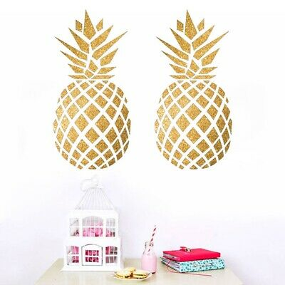 Wall Vinyl Sticker Room Decal Mural Design Pineapple Kitchen Art Welcome bo2194