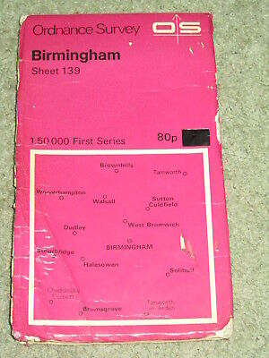 OS Ordnance Survey Landranger Map Sheet 139 Birmingham