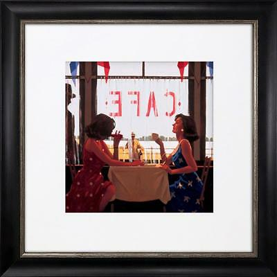 Jack Vettriano Picture Print Small Falmouth Black Framed Cafe Days The Drifter