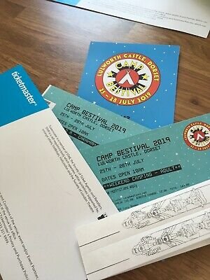 Camp Bestival 2019 Tickets 2 Adults 1 Child and caravan permit for field A