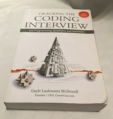 Cracking the Coding Interview: 150 Programming Questions and Solutions~paperback