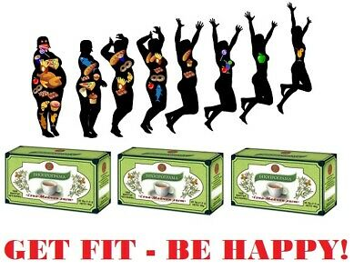 3 BOXES TEA GET FIT Colon Cleansing / Laxative / Detox / Weight Loss 60 bags