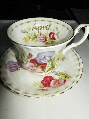 "Royal Albert ' Flower Of The Month ""April Sweet Pea     Cup & Saucer Only"