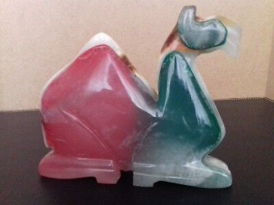onyx camel figurine paperweight, 1970s hand crafted excellent condition