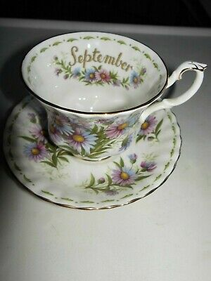 """Royal Albert ' Flower Of The Month """" Sept Michaelmas Daisy    Cup & Saucer Only"""