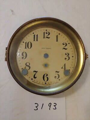 Antique Seth Thomas Mantle Clock Dial & Bezel With Glass From 89 C Movement
