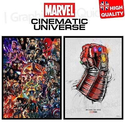 22 Marvel Cinematic Universe We Love You 3000 Poster Movie 2019 | A4 A3 A2 A1 |