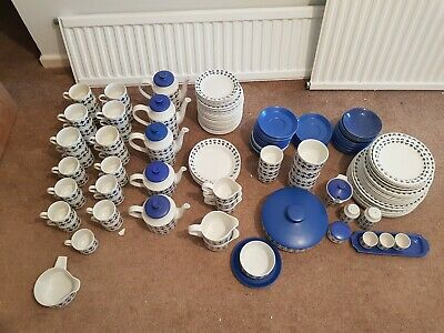 Roselle Midwinter pottery / china- extensive vintage tea and coffee cup set
