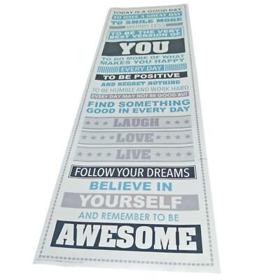2X(Be Awesome Inspirational Motivational Happiness Quotes Decorative Poste E6X1)