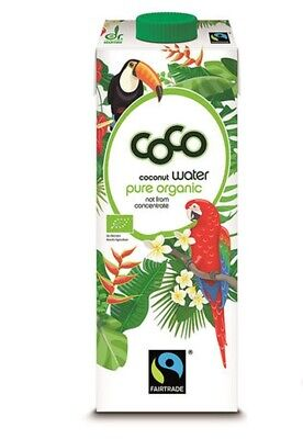 Green Coco Fairtrade Coconut Water 1L (Pack of 2)