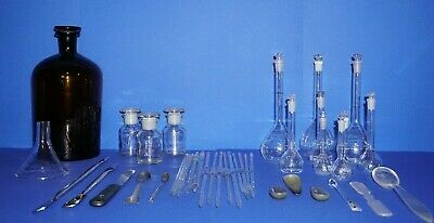 Laborglas, set, Spatel, konvolut,  Flaschen, Schott, lab, bottle, Duran, Brand