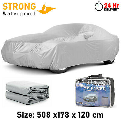 Universal Full Car Cover Large Heavy Duty Rain Snow UV Protection Breathable