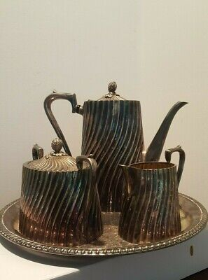 Antique Silver Tea Coffee Set (By Tapezio) - From Estate