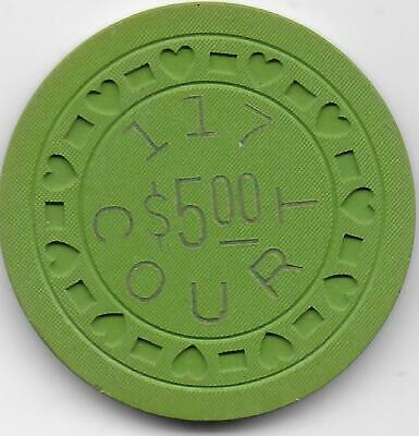 Obsolete Illegal Casino Chip From 117 COURT ST.-Jeffersonville, In.-CG047155