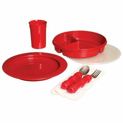 Mabis Dmi Healthcare Redware Dinnerware Set, Red, One