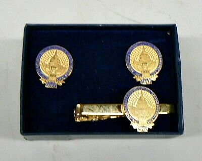 Vintage 1997 President Bill Clinton Inauguration Cuff Links And Tie Clip