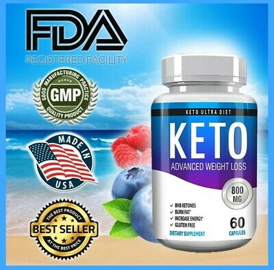 *Super Keto BHB 60 capsules, 800 mg, Top Keto & Carb blocker supplement ! USA.