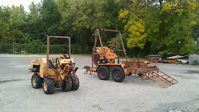 Case Maxi Sneaker Rock Saw, Cable Plow. Includes Custom Trailer.