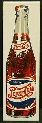 "Dollhouse Miniatures Metal Sign Advertising Bottle PEPSI COLA 3 1/4"" x 1"""