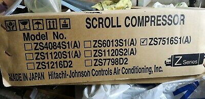 Hitachi - Johnson SCROLL COMPRESSOR  ZS75116S1(A)Refrigerated,cold room,chillers