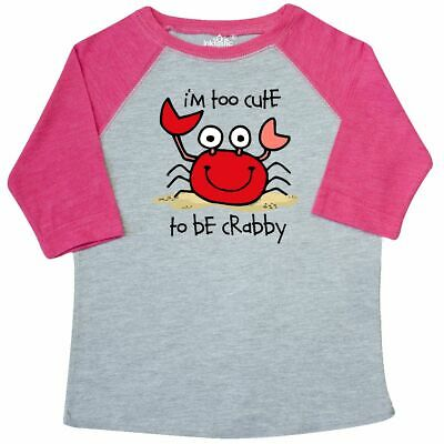 Inktastic Too Cute Crab Toddler T-Shirt Crabby Cranky Baby Grouchy Sand Beach