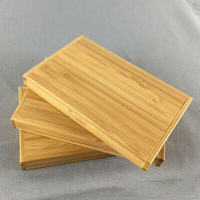 Wooden Name Card Business Card Holder Handmade Box Storage Credit Case ONE