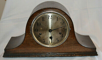 Antique Vintage 1930's Westminster Chime Napoleon Oak Mantle Clock Spares Repair
