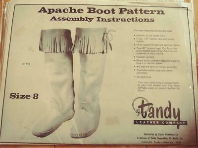1970 Tandy Leather Company Apache Boot Pattern Instructions Pattern Size 8 Mens