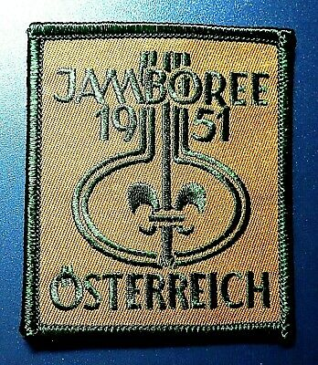 1951 WSJ WORLD SCOUT JAMBOREE BADGE BSA 2019 2023 WOSM sponsored reproduction