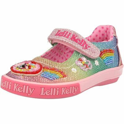 Lelli Kelly Pretty Baby 9435 Pewter silver shoes Mary Jane Dolly Tennis Sneakers