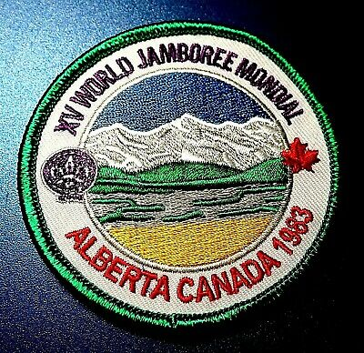 1983 WSJ WORLD SCOUT JAMBOREE BADGE BSA 2019 2023 WOSM sponsored reproduction