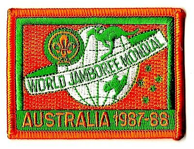 1987-88 WSJ WORLD SCOUT JAMBOREE BADGE BSA 2019 2023 WOSM sponsored reproduction