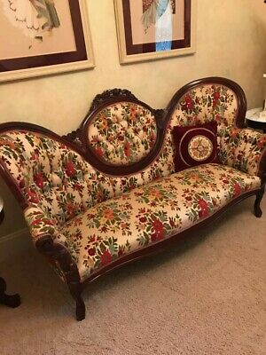 "Antique Early 1800s Victorian ""Style"" Sofa and 2 Chairs EXCELLENT CONDITION!!"