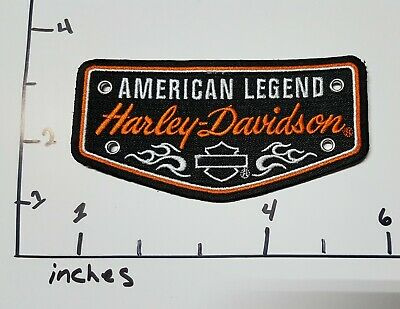 Harley Davidson ORANGE BADGE Patch 5x2.5 inch embroidered arm patch
