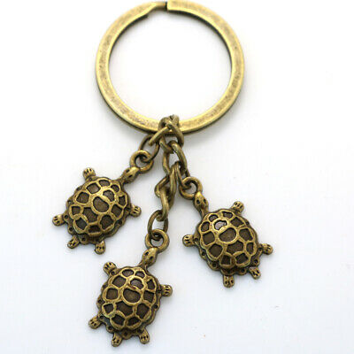 Retro Turtle tortoise 3 in 1 Keychain Key Ring Accessories Bag Pendant Gift