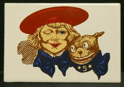 """Dollhouse Miniatures Metal Sign Advertising BUSTER BROWN 2 1/4"""" x 1 1/2"""""""
