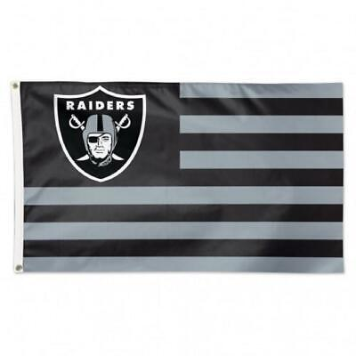 Oakland Raiders 3x5 Flag - Americana Design [NEW] NFL Banner Sign Wall Cave