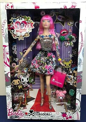 NEW Barbie Tokidoki Doll Pink Brown Donut Headband Model Muse Clothing Accessory