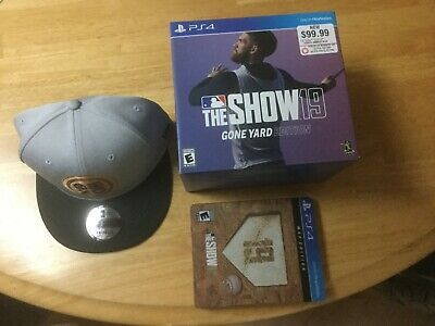 The Show 19 Gone Yard Edition New Era hat complete PS4 Playstation 4 baseball