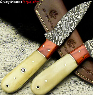 Cutlery Salvation Handmade Damascus Steel Blade  Full Tang Knife | Camel Bone