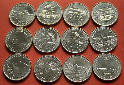 12X Uncirculated Grade 1992 Canada 25 Cent State Quarters World Coin #Msc60