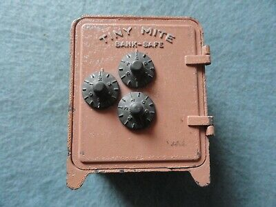 Vintage Tiny Mite Bank Safe with Combo