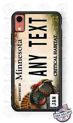 Minnesota Turkey Customize License Plate Phone Case Cover For iPhone Samsung etc